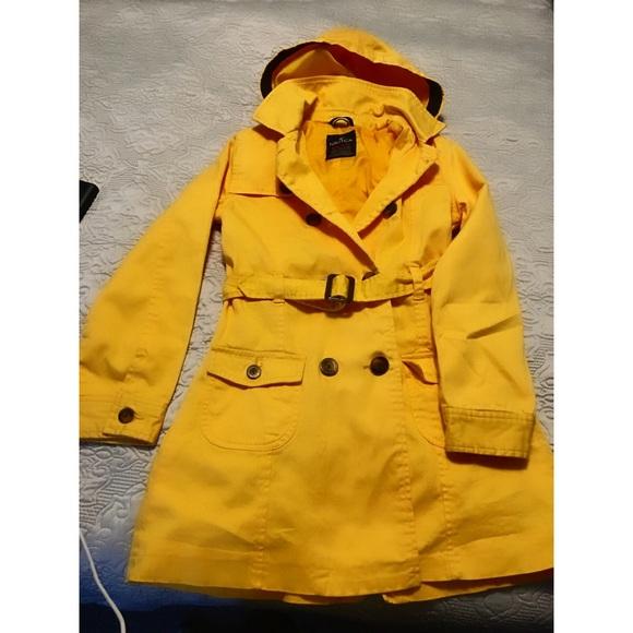 Nautica girls size 10/12 yellow coat